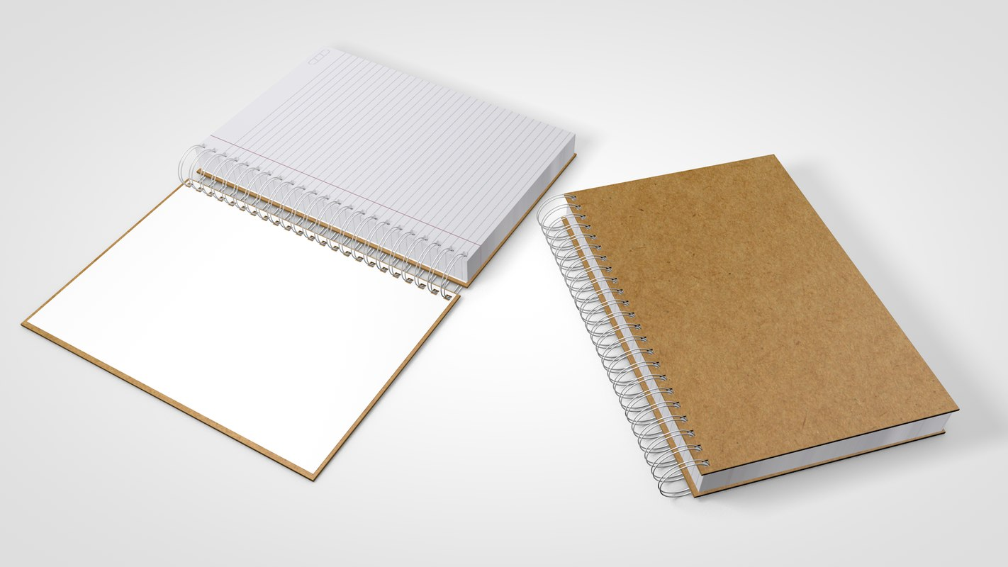 3D ring notebook model