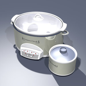 crock pot set 3D model