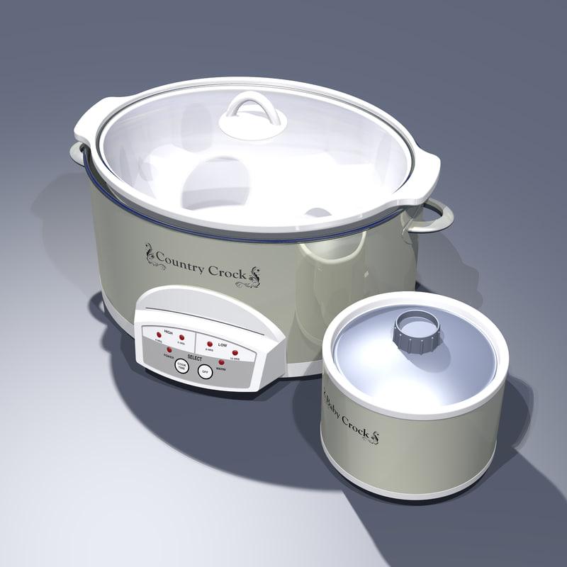 crock pot set 3D model