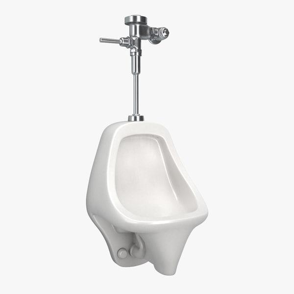 3D urinal bathroom