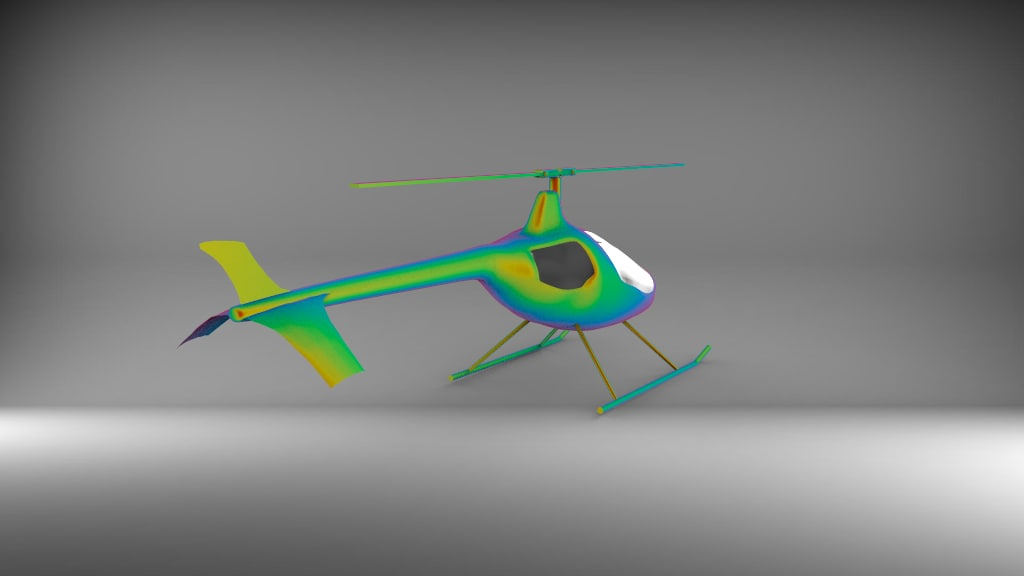 3D model small helicopter