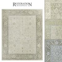 3D restoration hardware rugs ashra
