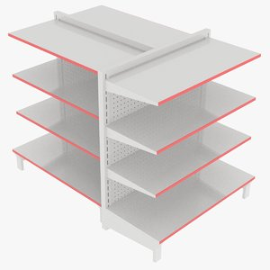 3D metal shelves model