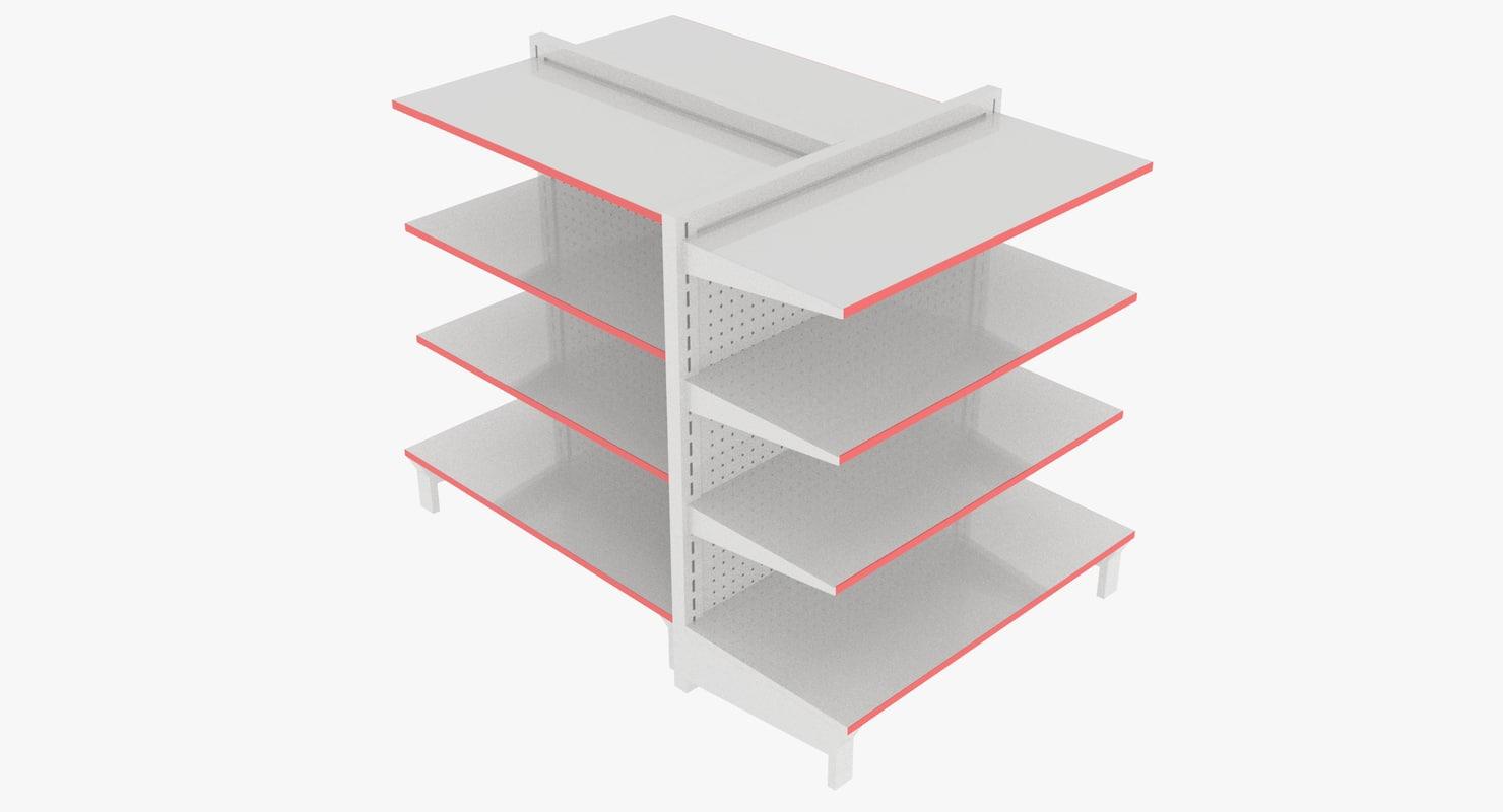 3D metal shelves model