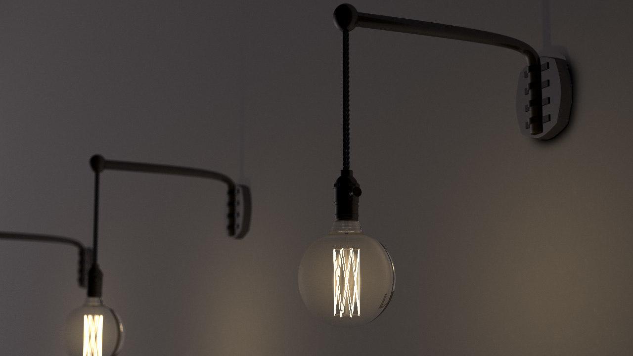 edison vintage bulb 3D