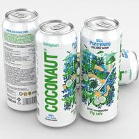 3D coconaut coconut water