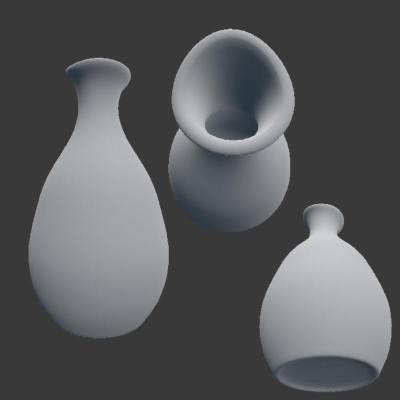 vases ceramic 3D