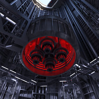 3D sci-fi shaft model