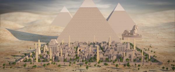 ancient egypt city egyptian 3D model