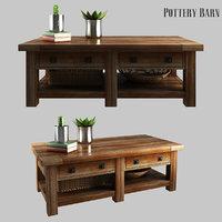 3D model benchwright rectangular coffee table