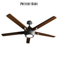 pottery barn benito ceiling fan 3D model