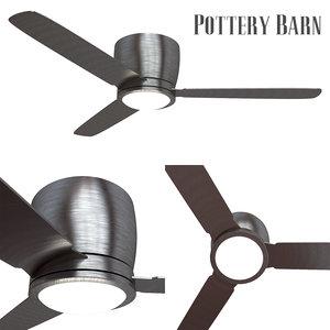 pottery barn ceiling fan 3D