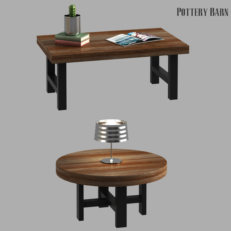 Griffin Reclaimed Wood Coffee Table 3D Model
