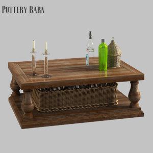 3D lorraine coffee table model