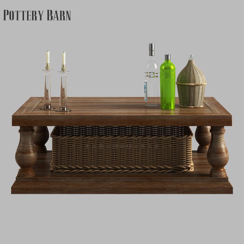 D Lorraine Coffee Table Model TurboSquid - Lorraine coffee table pottery barn