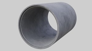 concrete pipe 1a 3D model