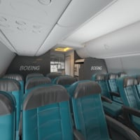 Boeing 737 Airplane Interior 3D Model