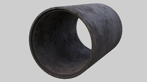 concrete pipe 1b 3D model
