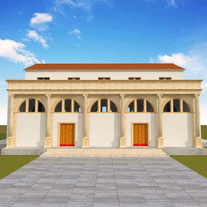 3D traditionnal basilic model