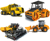 loader asphalt roller 3D model
