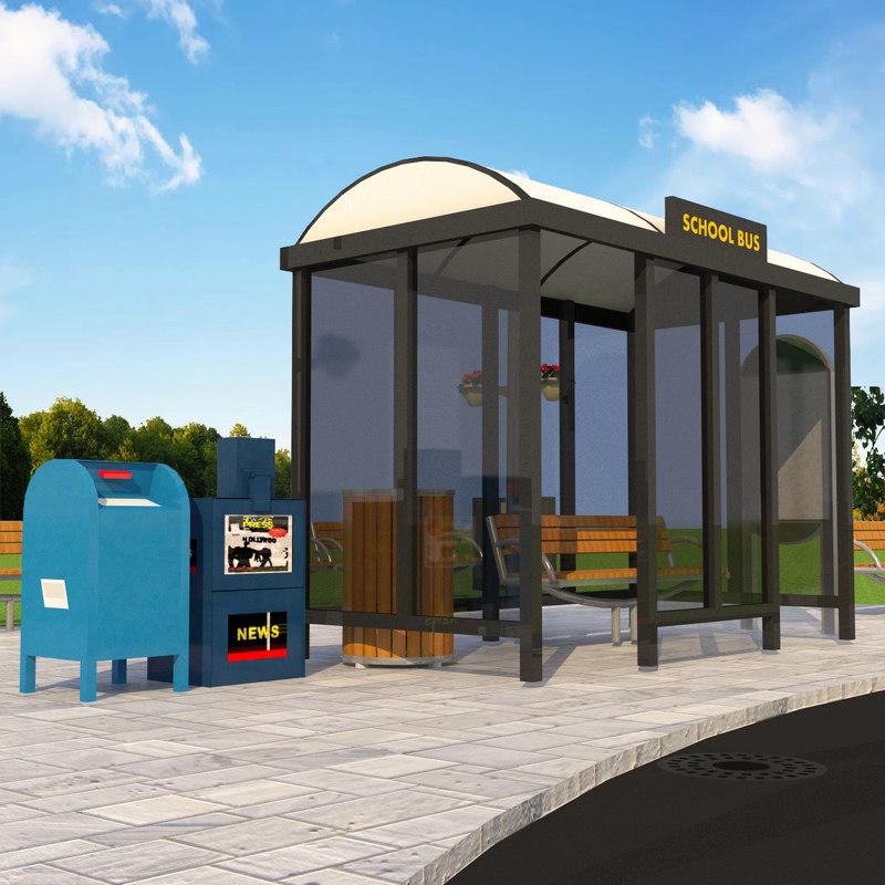 bus element 3D model