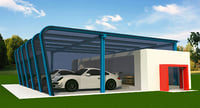 cars showroom 3D