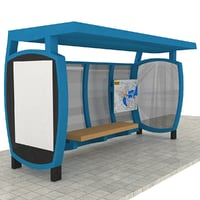 bus station 3D model