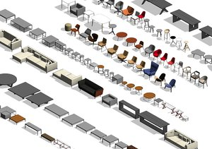 revit furniture model