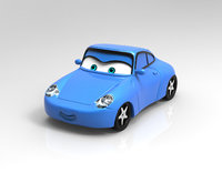 sally cars 3D model