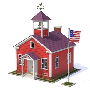 3D house school model