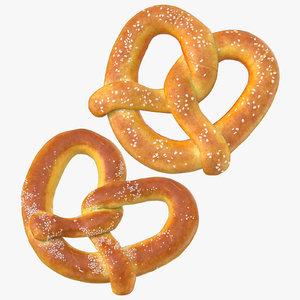 3D model pretzels