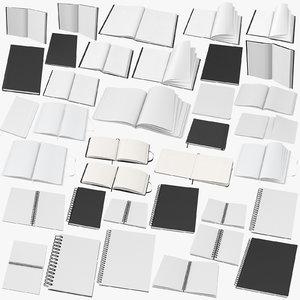 sketchbooks bound moleskine 3D model