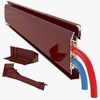 3D baseboard heater