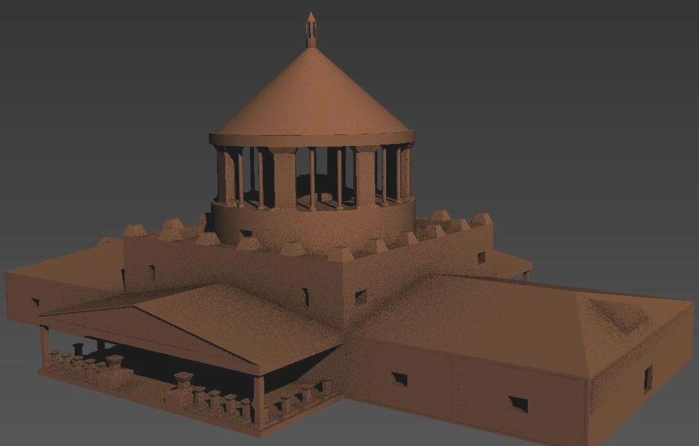 3D castle temple