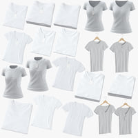 3D female t-shirts
