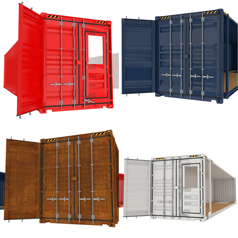 3D model containers elements
