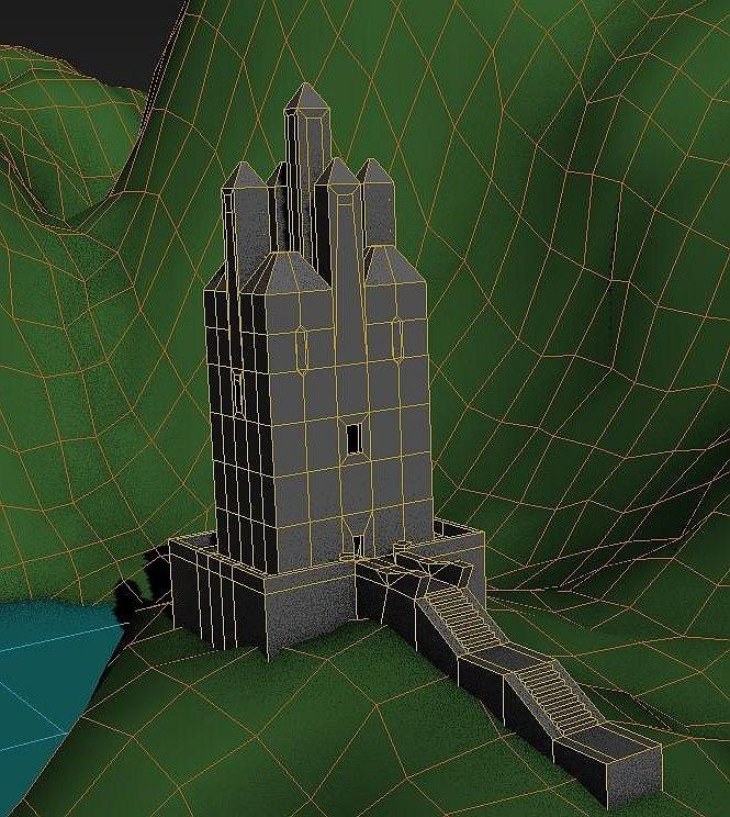3D castle landscape