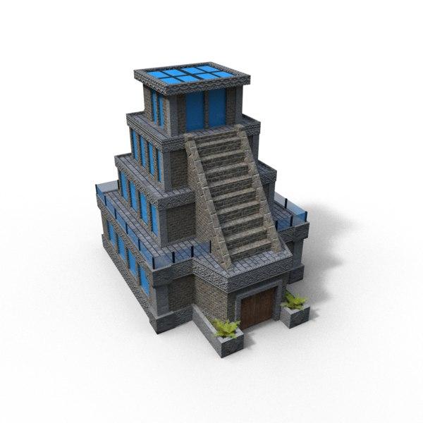temple ready workflow 3D model