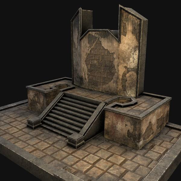 cave-entrance doorway 3D model