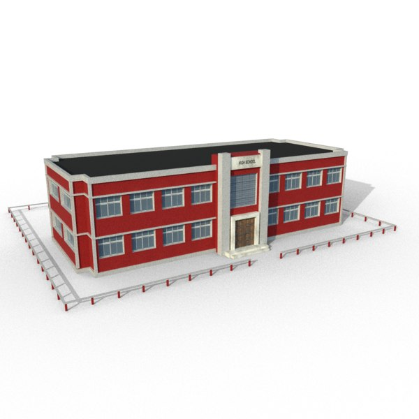 3D school building model