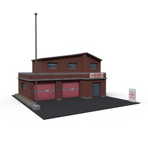 firestation ready 3D model