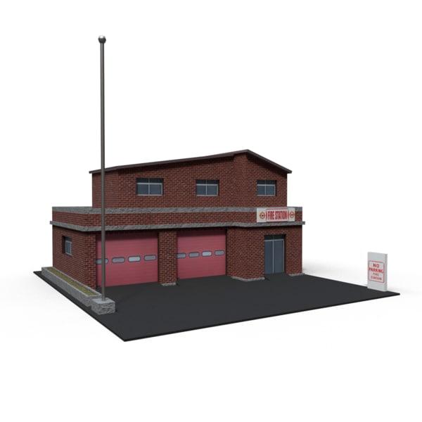 firestation ready 3D model