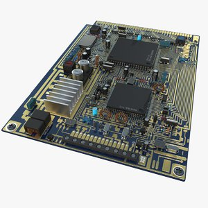 generic circuit blue board 3D model