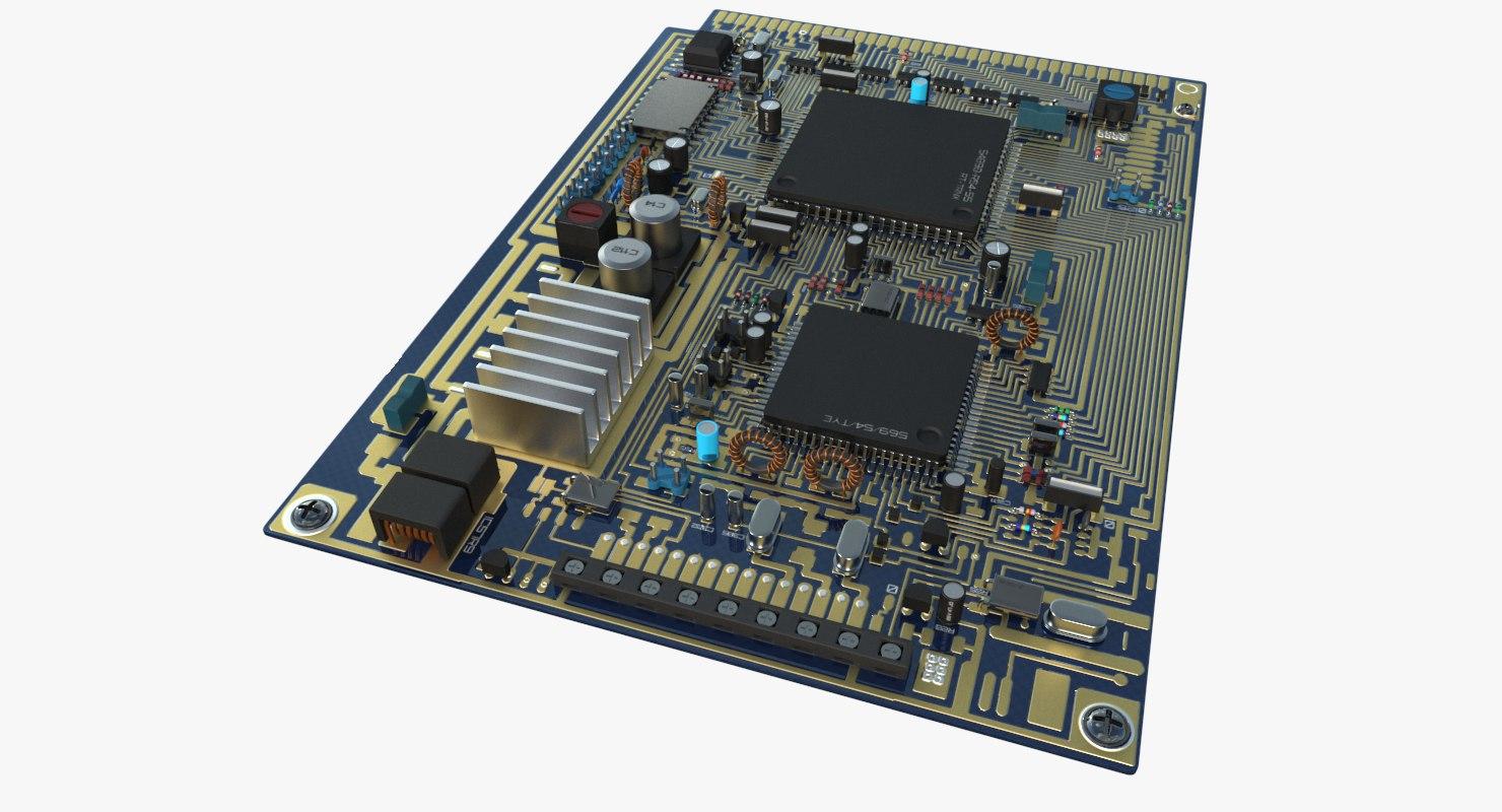 generic circuit blue board 3d model turbosquid 1234784generic circuit blue board 3d model