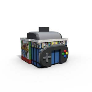 3D model video games store
