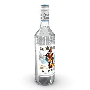 captain morgan white 70cl 3D model