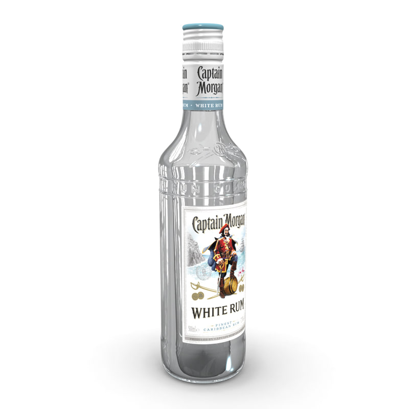 captain morgan white 50cl 3D model