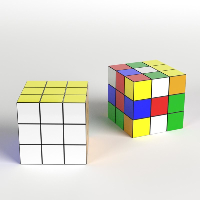 rubik cubes 3D model