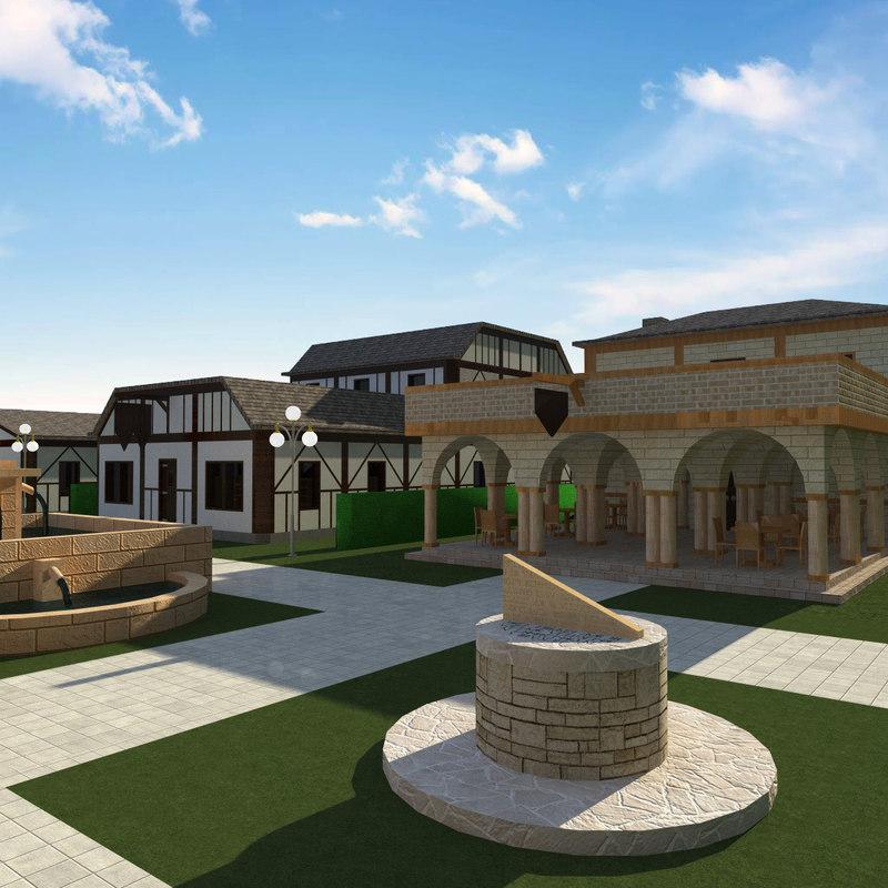3D model medieval city