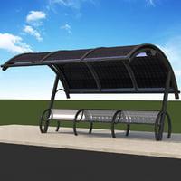 3D solar bus station